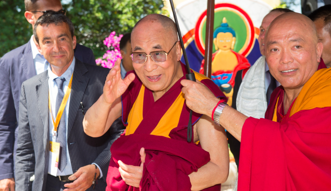 Sua Santità il Dalai Lama a Pomaia